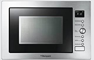 Bompani Built In Microwave 34 Liter With Grill & Conviction Function Silver Model B134DGS2-1 Years Full Warranty.