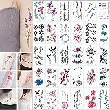 30 hojas 3D mariposa tatuajes temporales arte corporal pegatina flor letras dibujos animados perro tatuajes falsos infinito tatuaje para mujeres niños-Tatuaje SETE