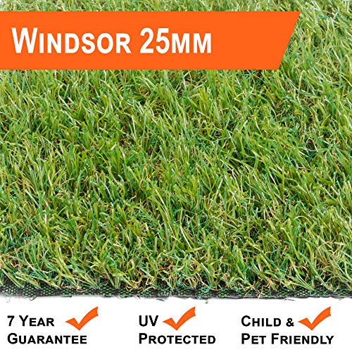 Windsor 25mm Artificial Grass Quality EU Manufactured 2m & 4m Widths Choose Length (2m x 3m)