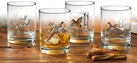 Upland Gamebirds Double Old Fashioned Glasses by David A. Maass