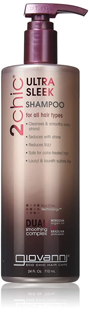 Giovanni 2Chic Brazilian Keratin and Argan Oil Ultra-Sleek Shampoo, 24 oz.