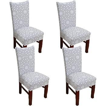 WANYIG Sedie da Sala da Pranzo Moderne con Motivo Stampato Coprisedia con Schienale Coprisedile Universale Elastico Lavabile Copertura della Sedia da