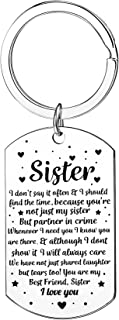 Sister Keyring Sister Gifts From Sister Best Friends Keychain Birthday Gifts For Sister Women Friends Gifts