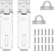 Padlock Hasp Door Lock Hasp Latch,5 inch 304 Stainless Steel Heavy Duty Padlock Hasp,2mm Extra Thick Door Gate Bolt Lock w...