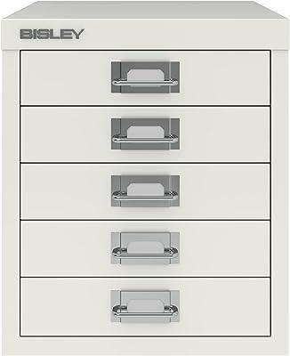 BISLEY Meuble de Rangement en Acier 5tiroirs 279x D408X 220Craie Blanc Ref H125nl-26