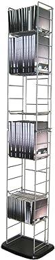 Moon_Daughter CD DVD Tower Folding Rack Storage Holder Blu-Ray Media Organizer Wall Stand