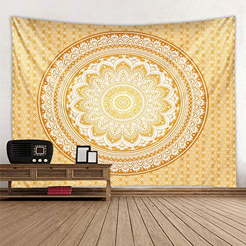 N/A Tapestry Wall Hanging Tree Life Golden and Marble Ornament Tapestry Wall Hanging Beach Rug Blanket Camping Tent Travel Pad Tapestryhalloween Christmas Home Decoration Gift 52X60 Inches