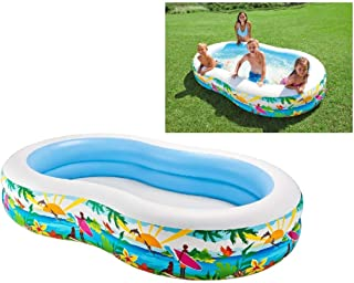 Intex Swim Center Paradise Inflatable Pool, 103in X 63in X 18in, for Ages 3+
