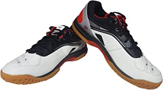 SEGA Badminton Running Shoes Alpine for Men Women Kids Unisex Non Marking (White)