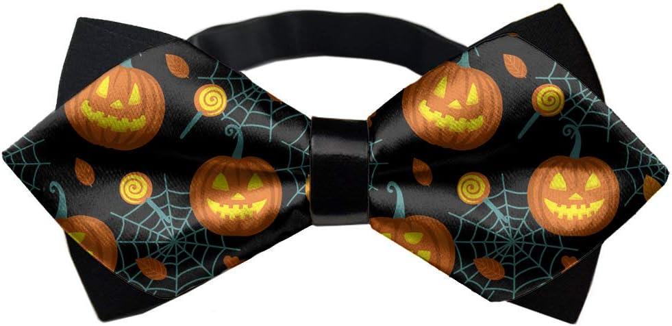 YEAHSPACE Men's Adjustable Halloween Pumpkin Neck Bowtie Bow Ties Gift