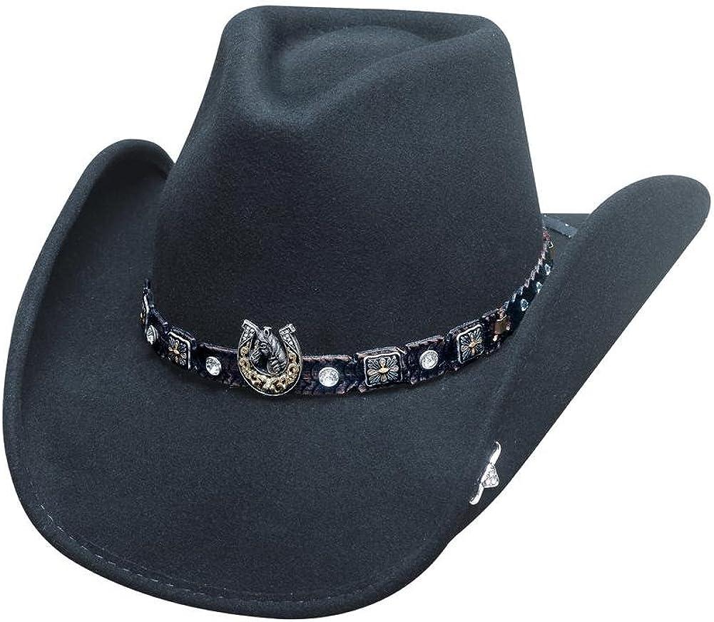 Industry Nashville-Davidson Mall No. 1 Bullhide Hats 0708Bl Horse Country Dark Black C Collection