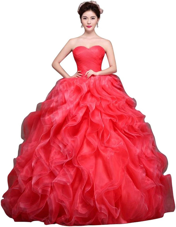 BeautyEmily Tiered Organza Vintage Vestidos Princess Quinceanera Dress