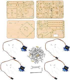 Wal front Robot Arm Kit 4 DOF DIY Wood Robotic Mechanical Arm Aluminium Robot Arm Clamp Mount Kit sg90 Servo for Raspberry Pi SNAM1500