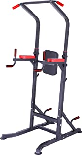 Power Tower Multi-function Power Tower Adjustable Height Power Tower Strength Training Power Heavy Duty Power Tower Dip Bar Pull Up Station chinning dipping Home Fitness Workout Station 48.5 LB