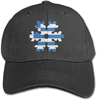 Greece Greek Flag Snowflakes Kid/Child Adjustable Snapback Curved Visor Baseball Caps Toddler Baseball Cap