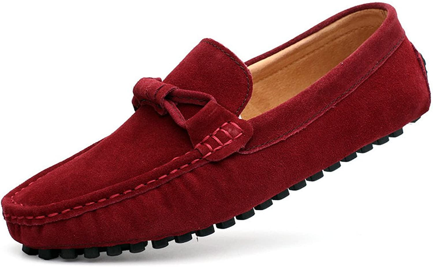 Men Cow Suede Loafers Spring Autumn Genuine Leather Driving Moccasins Slip On Men Casual shoes Big Size 3846