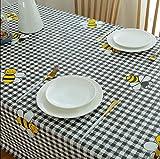 ioujk Mantel Rectangular Impermeable Y A Prueba De Manchas Vinilo Pesado Plástico Hogar Cocina Mesa De Comedor Cubierta Limpiar 60 * 60 Cm Cuadrado De Abeja