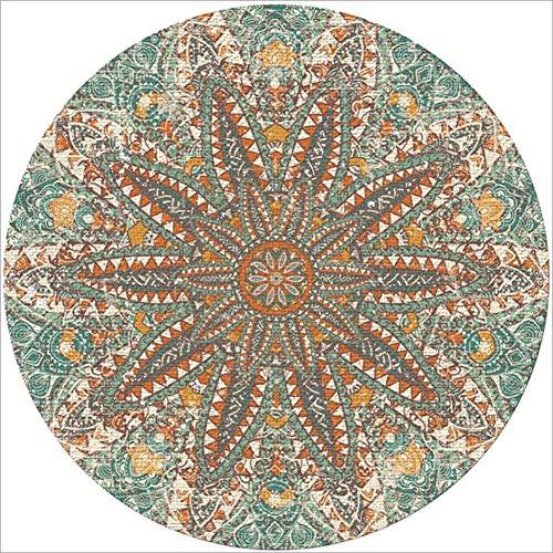 Icole Alfombra redonda de algodón de 100 cm de diámetro