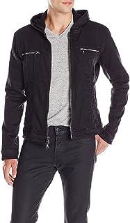John Varvatos Men's Hooded Jean Jacket, Black, Medium