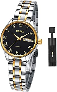 Ladies Watches on Clearance Prime,Women Watches,Women's Watch with Day and Date,Female Watch for Small Wrist,Stainless Steel Watches for Women,Black Roman Numerals Watch Women,Ladies Wrist Watches