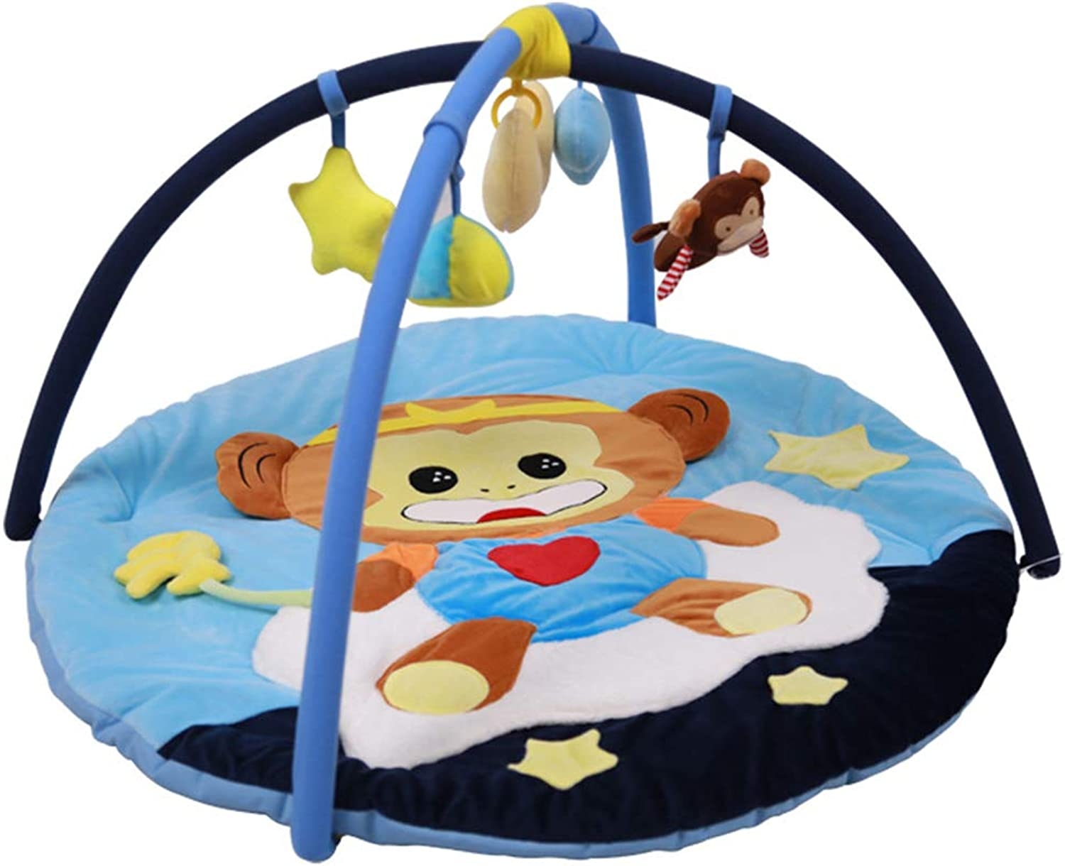 Bedside guardrail Portable Baby Game Pad, Environmentally Safe Baby Fitness Frame Carpet Educational Toy, Round Travel Game Pad, Suitable For 01 Year Old Baby