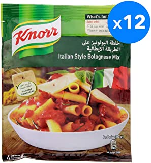 Knorr Pasta Sauce Bolognaise Mix - 68 gm (Pack of 12)