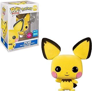 Funko Pop! Pokemon - Pichu Flocked Pop Wondrous Convention 2020 Limited Edition Shared Sticker Exclusive