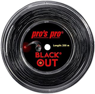 pros pro BLACK OUT 1.24mm 200mロールガット ポリエステルガット 硬式テニスガット プロズプロ
