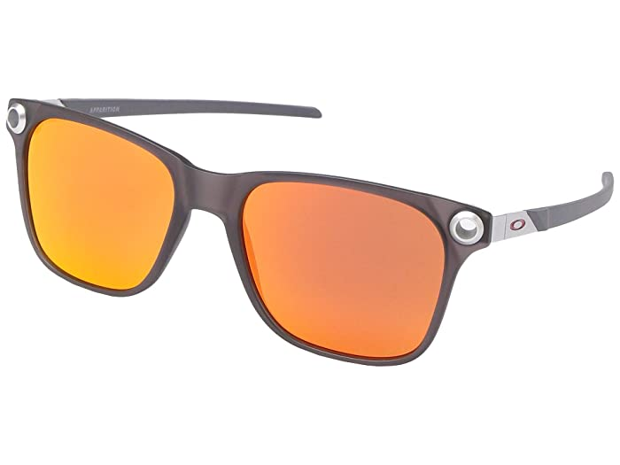 Oakley  55 mm Apparition (Satin Black Ink with PRIZM Ruby) Fashion Sunglasses