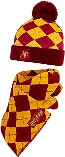 HARRY POTTER Set de Bufanda Gorro para Niños, Merchandising Oficial Diseño Gryffindor, Regalos Para Niños y Niñas y Adoles...