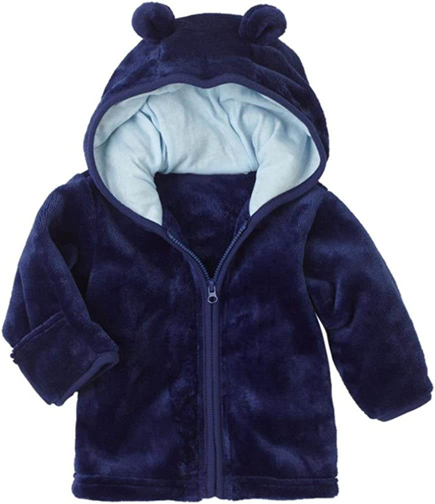 San Antonio Mall Winsummer Toddler Max 69% OFF Baby Boys Girls Winter Hoodie Warm Zipp Fleece