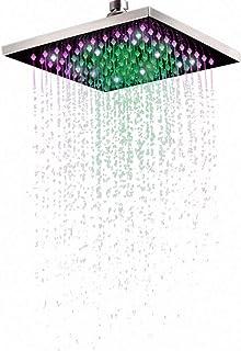 SEESEE.U Soffione Doccia Doccia Manuale Universale 40X40Cm Doccia Quadrata 16 Pollici Acciaio Inossidabile S con Braccio Doccia 35Cm Risparmio idrico ad Alta Pressione Adatto a Tutti i bagni