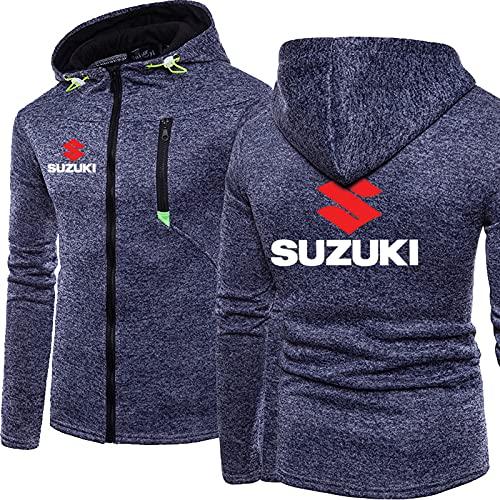 Night K Herren Sweatshirt Hoodie Pullover 3D SUZUKI Drucken Mode Klassisch Langarm Kapuzenjacke Taktische Fleecejacke Teen Geschenk A-Medium