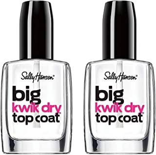Sally Hansen Big Kwik Dry Top Nail Coat Treatment, 0.4 Fl Oz, 2 Count