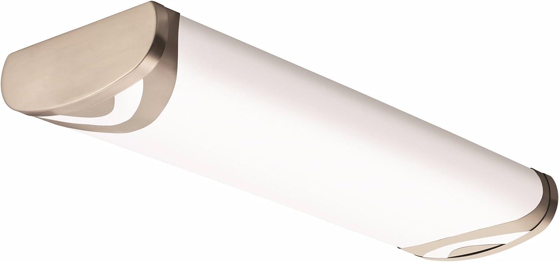Lithonia Lighting Brushed Nickel Popular popular 2-Ft Flush Light for Mesa Mall Mount Kitc