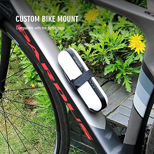 CYCPLUS Luftpumpe I50PSI Elektrischer Kompressor Tragbar Fahrradpumpe Mini Reifenpumpe mit Digital LCD LED Licht Wiederaufladbarer Li-ionen 12V für alle Fahrräder als Taschenlampe und Powerbank - 6
