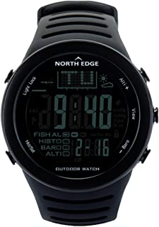 NORTH EDGE Smart Intelligent Watch Sports Mountain Fishing Hiking high Pressure Waterproof (Black)