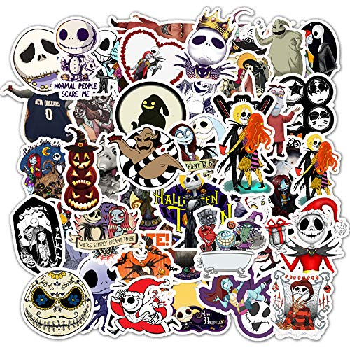 The Nightmare Before Christmas Stickers for Girls Laptop Water Bottle Luggage Skateboard Travel Case Computer Bike Helmet Hydro Flask, Best Gift for Kids and Teen Halloween(Tim Burton's Corpse Bride)