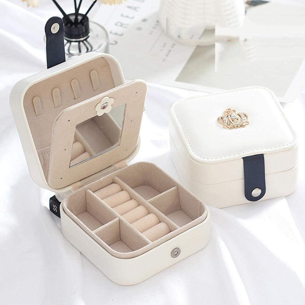 NKDbax Travel Portable Spasm price Jewelry Earrings Cheap mail order specialty store Leather Stor Box