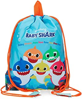 Shark Family Bolsa de Merienda Azul 27x34 cms Microfibra