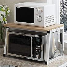 Microondas digitales horno Microondas horno de carro soporte del estante del estante de la cocina Tostadora 2 Niveles Contador del hogar y el Gabinete Mercancías Organizador, 3 horno de microondas Man