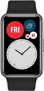 ساعة هواوي واتش فيت الذكية مع هيكل معدني رفيع وشاشة فيفيد اموليد 1.64 انش، رسوم متحركة سريعة، عمر بطارية حتى 10 ايام، كشف ...