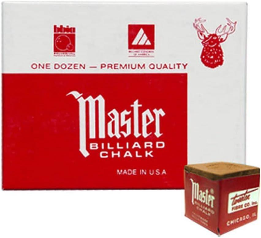 Masters GOLD TAN Billiard Cue 4 Chalk Purchase Choice - Dozen