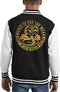 Cloud City 7 Cobra Kai Mercy Is For The Weak Kid's Varsity Jacket