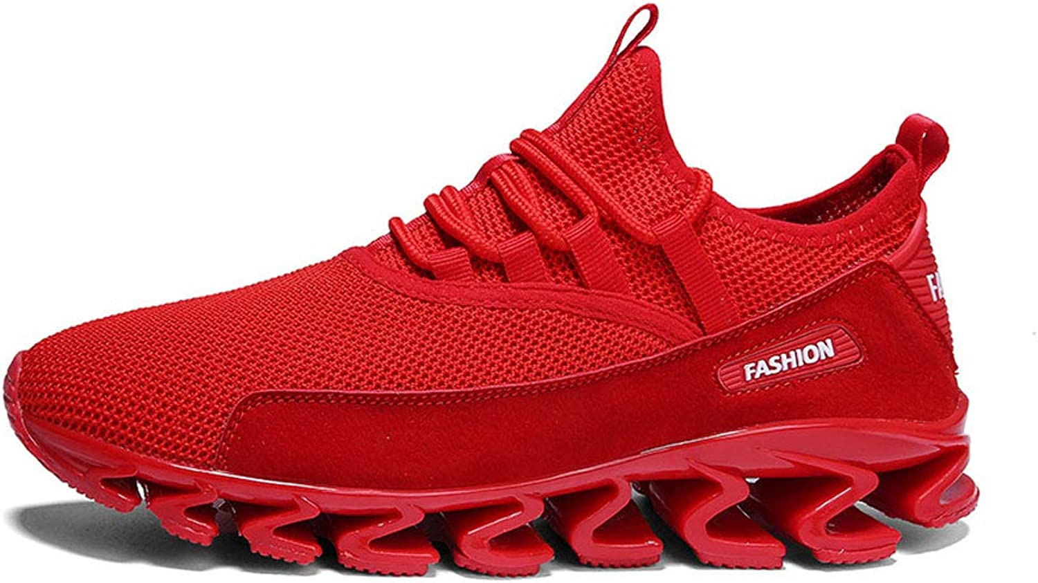 FFSH Sports shoes Flying Woven Breathable Sports Casual Running Men's shoes wild-red-47