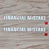 2X White 6'' Financial Mistake Decal Sticker Car Funny Vinyl no bkgrd