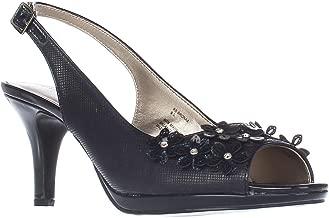 Karen Scott Womens Bronaa Peep Toe Slingback Classic Pumps, Navy, Size 7.5