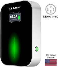 Inteset Electric Vehicle Charger - Fast (40A, 9.6kW, 240V), Outdoor/Indoor, Level 2 Home Charging with Large LCD Display for All EVs - J-1772 (Type 1) Connector, 20ft Cable, and NEMA 14-50 Plug