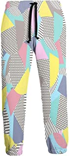 Cyloten Sweatpants Funny 80s 90s Retro Neon Blue Round Men's Trousers Breathable Baggy Sportswear Jogger Pants