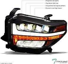 Topline Autopart Black Housing Full LED Sequential Quad...
